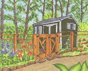 Shed drawing by Stephanie Sipp